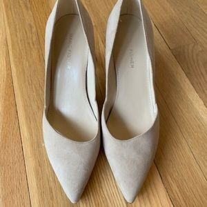 Marc Fisher Nude Suede Nude Pointed Toe Pump 7.5